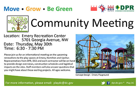 Emery, Hamilton and Upshur Community Meeting flyer