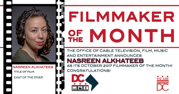 OCTFME Recognizes Nasreen Alkhateeb as the October 2017 Filmmaker of the Month