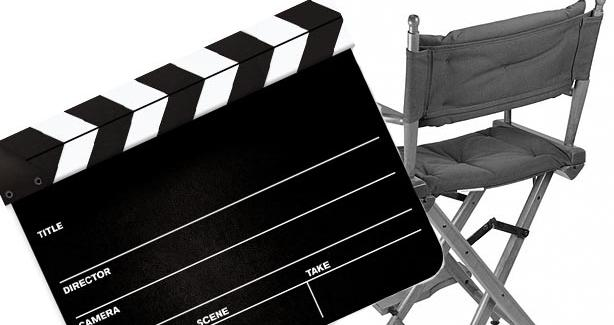 Film slate and director's chair